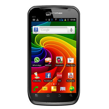 Smart Phones, Phones, Ezone, Micromax, MICROMAX A100 - Black ,  , Bar ,  , 4.95 inches , GSM - 900, 1800, 1900; UMTS - 2100 , 72.6 x 142.2 x 11.9 mm , 168 g , v4 (Ice Cream Sandwich) , 5 MP , Yes , Yes , Capacitive Touchscreen , 480 x 854 Pixels , 16 M , Camera : Flash Light, Day Light, Tungsten, Cloudy, Incandescent, Night Vision, ISP Setting, Brightness, Zoom Level - 4x  Others: MMS Enabled, Calendar, Calculator, World Clock, Multiple Alarm, Video Sharing Support, Power Saver, Webcam, IP Dialling, CLID with Photo , 1 GHz Qualcomm Scorpion , 512 MB , 4 GB , Micro SD Up to 32 GB , Yes, 802.11 b/g/n , Yes, v3.0, Supported Profiles (HFP, A2DP, HSP, OPP) , No , Yes, Class 12 , Yes, Class 12 , Yes, 14.4 Mbps HSDPA; 5.76 Mbps HSUPA , Yes with Google Maps , Yes, micro USB , Yes , MP3, eAAC+, MIDI, WAV, 3GP, H.264, MP4 , Yes, with Recording , Downloadable , Vibration , MP3 , WAP 2.0, Android , G Sensor , Li-Ion, 2000 mAh , 5 hrs (2G) , 180 Hrs (3G) , 1 Year ,  ,