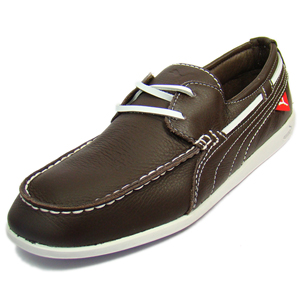Sneakers, Footwear, Puma, Puma Yacht Battleship Loafers shoes-chocolate/Brown/White-18540903