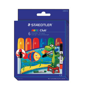 Staedtler Noris Club Gel Crayons Basic Colors Pack