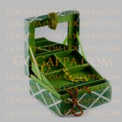 Green pulitzer jewellery case - birthday gifts