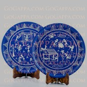 Decorative kaatha plates - warli gift
