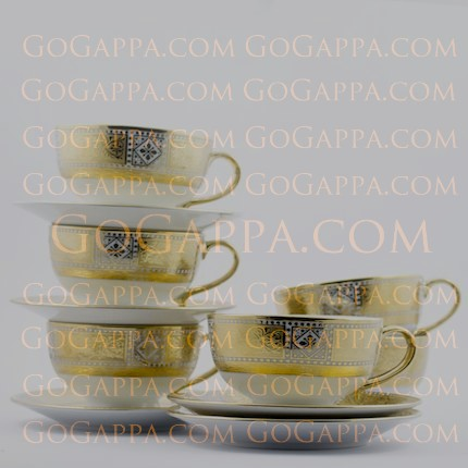 royal luxury tea cups and saucer set