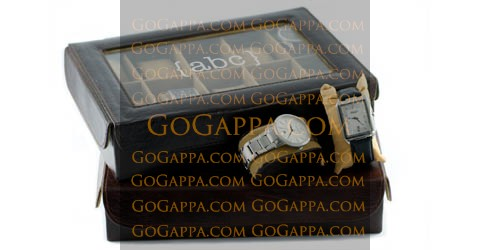 la grande leather watch case