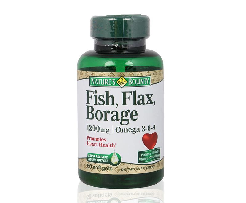 Supplement supplement fish flax borage 1200 mg for Fish flax borage oil