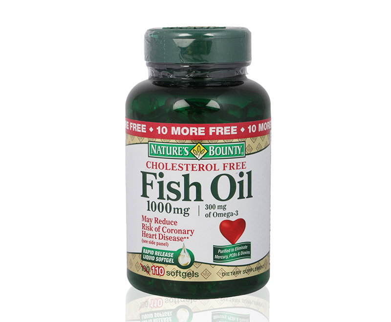 Supplement supplement cholesterol free fish oil 1000 for Nature s bounty fish oil