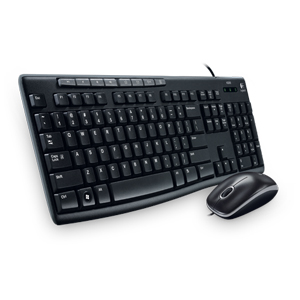 Keyboard Mouse Combos, PC, Main Products, Logitech, Logitech Media Combo MK200