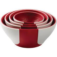 Food Preparation,ChefN,ChefN Sleekstor Pinch & Pour prep Bowls-Cherry
