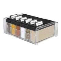 Food Preparation,EMSA,Emsa  SPICE BOX Spice Organiser (Black Color)