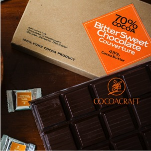 Miscellaneous Ingredients,CocoaCraft,70% Cocoa Bitter Sweet Chocolate Couverture (1kg)