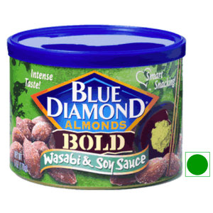 Dried Fruit & Nuts,Blue Diamond,Wasabi & Soy Sauce Almonds (170g)