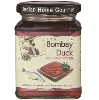 Savory & Sweet Sauces,Indian Home Gourmet,Bombay Duck Red Chutney (250g)