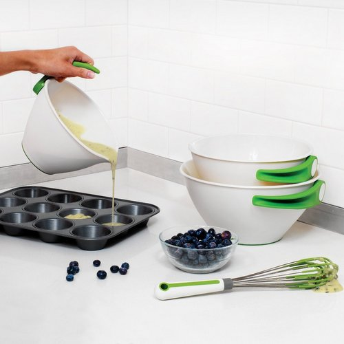 Bakeware,ChefN,Pop and Pour Mixing Bowl Set (3 Bowl)