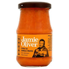 Italian Sauces And Pastes,Jamie Oliver,Jamie Oliver Chilli and Garlic Pesto (190g)