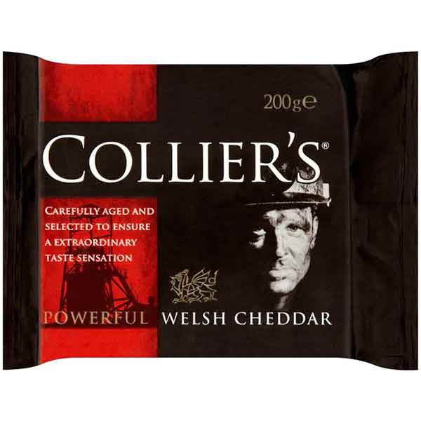 Cheese,Colliers ,Colliers Welsh Cheddar (200g)