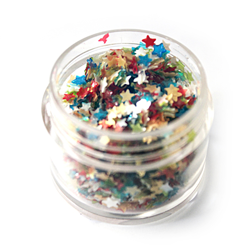 Sprinkles and Edible Shapes,Sprinkles N More,Colourful Edible Stars (3g)