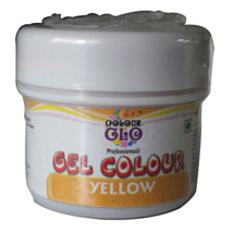 Edible Colors & Ink Pens,Bakersville,Colour Glow Yellow Gel Colour (50g)