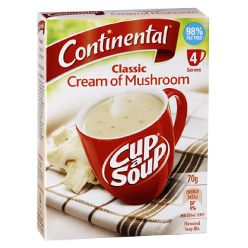 Soups & Instant Noodles,Continental,Cup a Soup Classic Cream of Mushroom (4 servings) (70g)