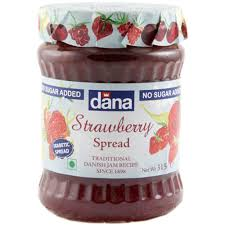 Jams And Preserves,Dana Danish,Dana Danish No Added Sugar Strawberry Spread (315g)