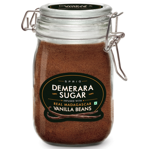Baking Sugars,Sprig,Demerara Sugar Infused with Vanilla Beans (175g)