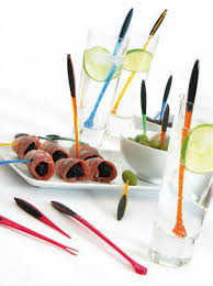 Food Preparation,Mastrad,Mastrad Set of 6 Stirers in Glass