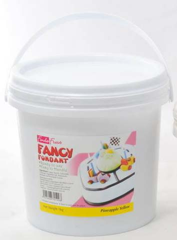 Fondant,Fancy,Fonda Frost Pineapple Yellow Fondant (1kg)