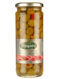 Olives,Fragata,Fragata Spanish Olives with Minced Pimiento (450gm)