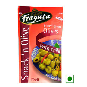 Olives,Fragata,Fragata Green Olives With Chilli (70g)