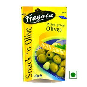Olives,Fragata,Fragata Green Olives with a Touch of Andalusia (70g)