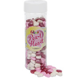 Sprinkles and Edible Shapes,Glint,Glint Pearl Heart (150gm)
