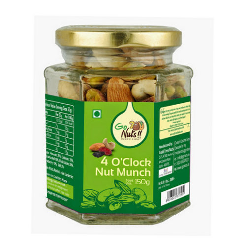 Dried Fruit & Nuts,Go Nuts,Go Nuts 4 O Clock Nut Munch (150g)