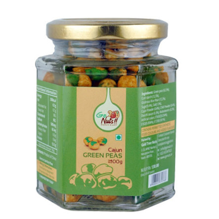 Dried Fruit & Nuts,Go Nuts,Go Nuts Cajun Green Peas (100 g)