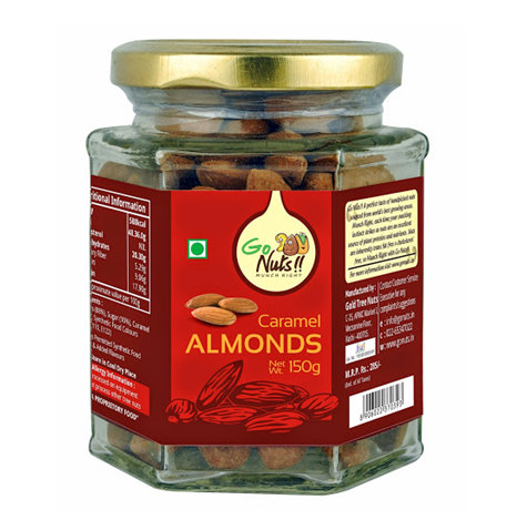 Dried Fruit & Nuts,Go Nuts,Go Nuts Caramel Almonds (125g)