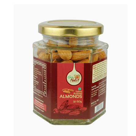 Dried Fruit & Nuts,Go Nuts,Go Nuts Salted Roasted Almonds (150g)