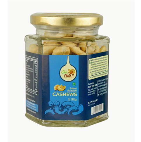 Dried Fruit & Nuts,Go Nuts,Go Nuts Salted Roasted Cashews (130g)