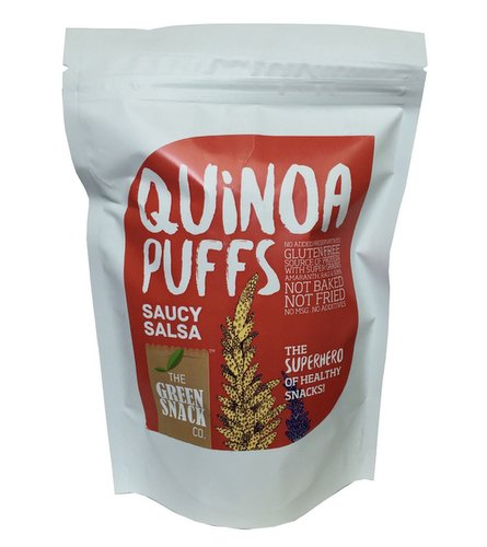 On-the-Go Snacks,The Green Snack Co.,Quinoa Puffs - Saucy Salsa (50g)