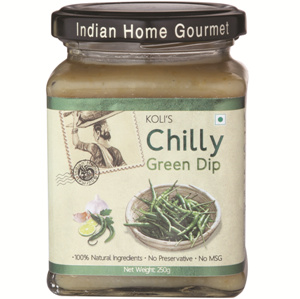 Savory & Sweet Sauces,Indian Home Gourmet,Green Chilly Dip (250g)