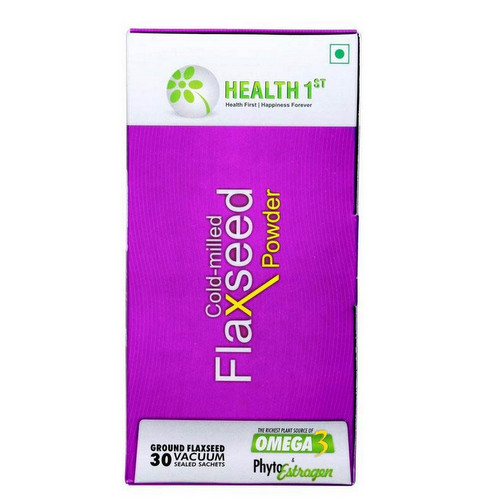 Health Flours and Grains,Health 1st,Cold-milled Flaxseed Powder ( 30 Sachets)