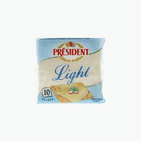 Cheese,President,Light Cheese Slices (200g)