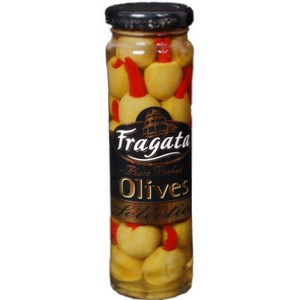 Olives,Fragata,Olives Stuffed with Hot Peppers (142g)