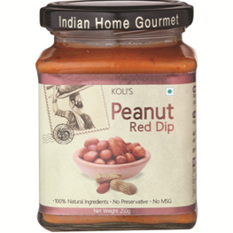 Savory & Sweet Sauces,Indian Home Gourmet,Peanut Red Dip (250g)