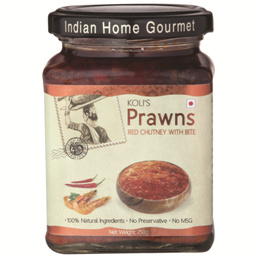 Savory & Sweet Sauces,Indian Home Gourmet,Prawns Red Chutney (250g)