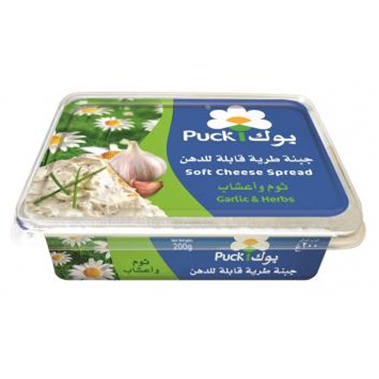 Puck Soft Cheese Spread Garlic & Herbs (200gm) Sma