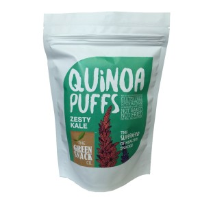 On-the-Go Snacks,The Green Snack Co.,Quinoa Puff - Zesty Kale (50g)