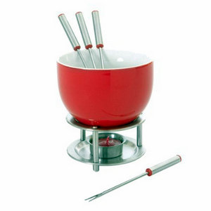 Kitchen To Table,Mastrad,Mastrad Chocolate Fondue Set (Red Colour)