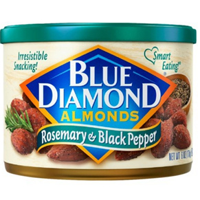 Dried Fruit & Nuts,Blue Diamond,Rosemary & Black Pepper Almonds (170g)