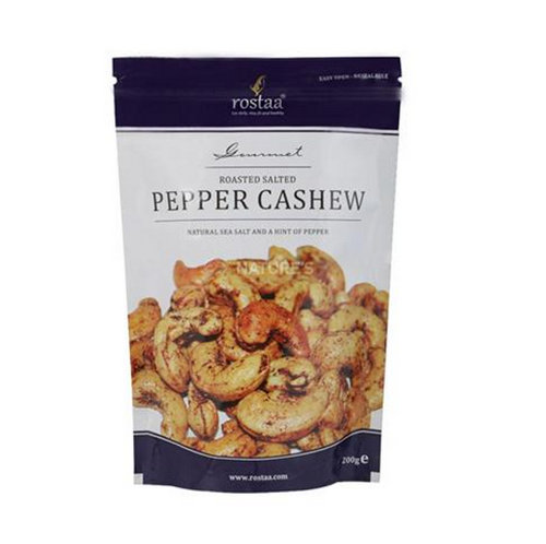 Dried Fruit & Nuts,Rostaa,Rostaa Roasted Salted Pepper Cashew (200g)