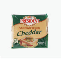 Cheese,President,Sandwich Cheddar Slices (200g)