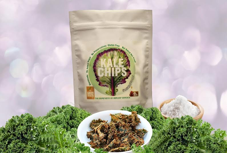 Popcorn & Chips,The Green Snack Co.,Kale Chips - Sea Salt and Vinegar (30g)