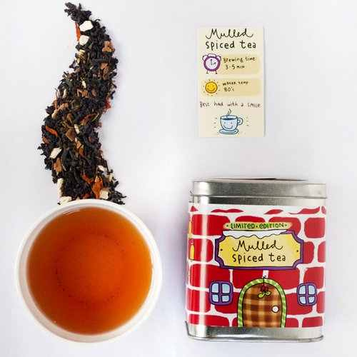 Black Tea,Tea Trunk,Mulled Spiced Loose Leaf Tea (100gm)
