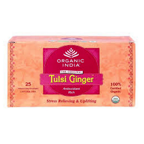 Tulsi Ginger Tea (25' Infusion Bags) small image